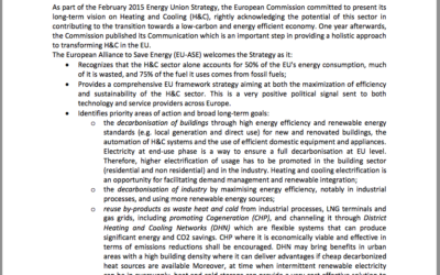 EU-ASE Position Paper on Heating and Cooling
