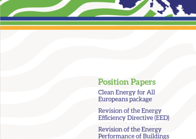 Clean Energy for All Europeans package, revisions of the Energy Efficiency Directive (EED) and Performance of Buildings Directive (EPBD)