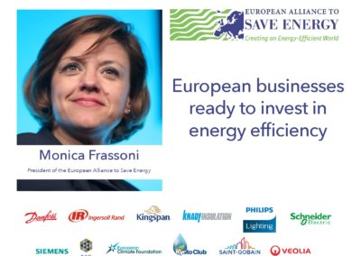 Op-ed: European businesses ready to invest in energy efficiency