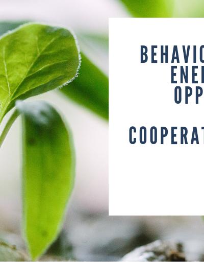 IPEEC: Behaviour change for energy efficiency report