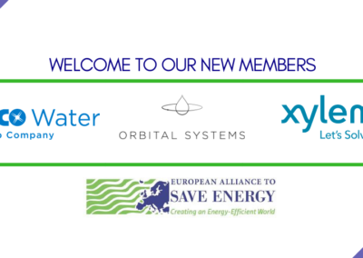 Three leading companies join the European Alliance to Save Energy to unlock the energy efficiency potential of the energy-water nexus