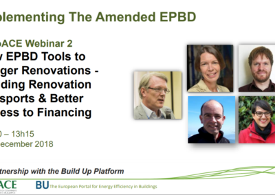 EuroACE Webinar: New EPBD tools to trigger renovation