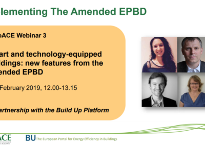 EuroACE Webinar: Implementing the amended EPBD
