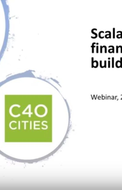 Webinar: Scalable Innovative Financing for Smart Buildings