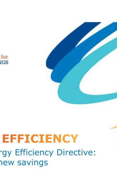 Art. 7 Energy Efficiency Directive: new period, new savings