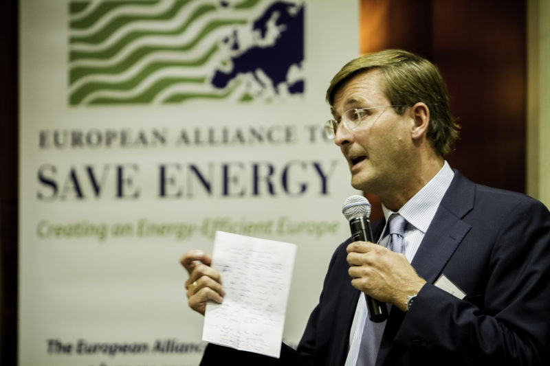 Johannes Meier, CEO of the European Climate Foundation, at the Second Annual EU-ASE Dinner, Brussels, 18 September 2012
