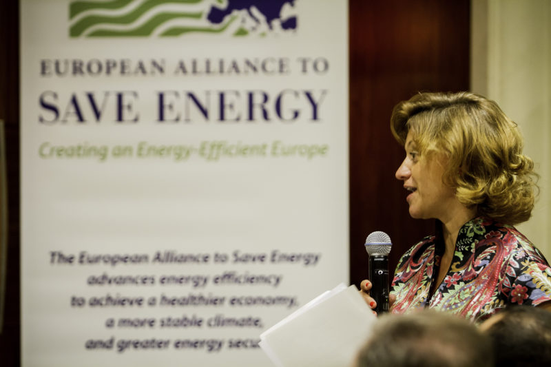 Monica Frassoni, President of EU-ASE, at the Second Annual EU-ASE Dinner, Brussels, 18 September 2012