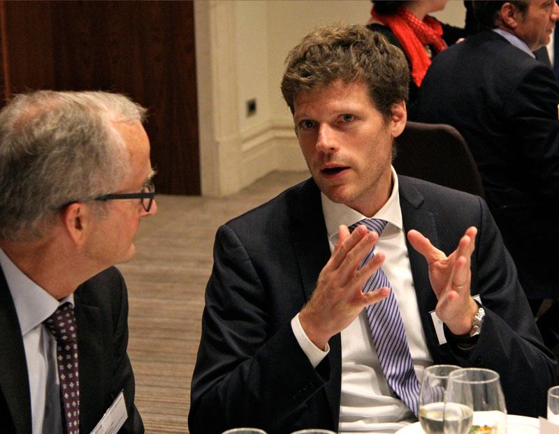 Martin-Schaer-Senior-Advisor-to-the-Management-Board-Vice-President-Siemens-Building-Technologies-Division-and-Folker-Franz-Head-of-EU-Public-Affairs-at-ABB