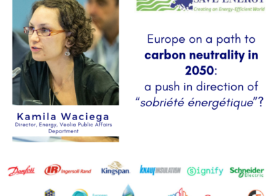 "Op-ed: Europe on a path to carbon neutrality in 2050: a push in direction of ""sobriété énergétique""?"
