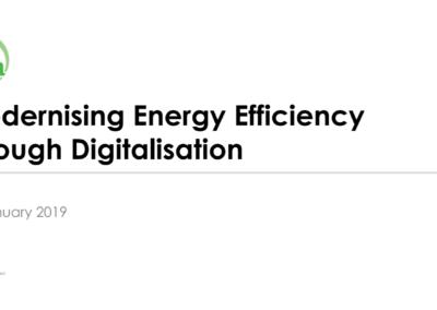 Webinar: Modernising Energy Efficiency through Digitalisation