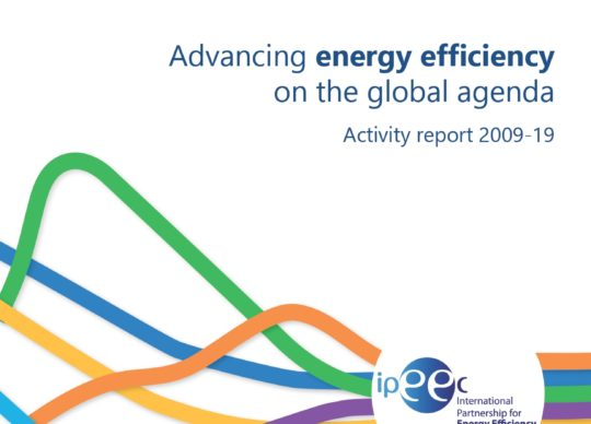 Advancing energy efficiency on the global agenda