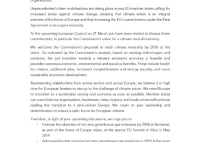 Open letter from the Coalition for Higher Ambition ahead of EUCO