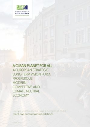 "EU-ASE Recommendations for the European Commission's long-term strategy ""A Clean Planet for All"""