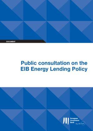 EU-ASE Response to EIB Public Consultation on Energy Lending Policy