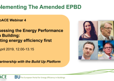 EuroACE Webinar: How to assess the energy performance of a building, putting energy efficiency first?