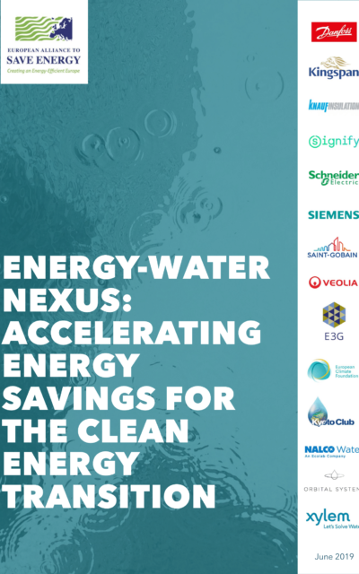 Energy-water nexus: accelerating energy savings for the clean energy transition