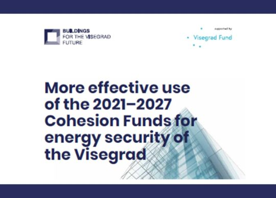 More effective use of the 2021–2027 Cohesion Funds for energy security of the Visegrad