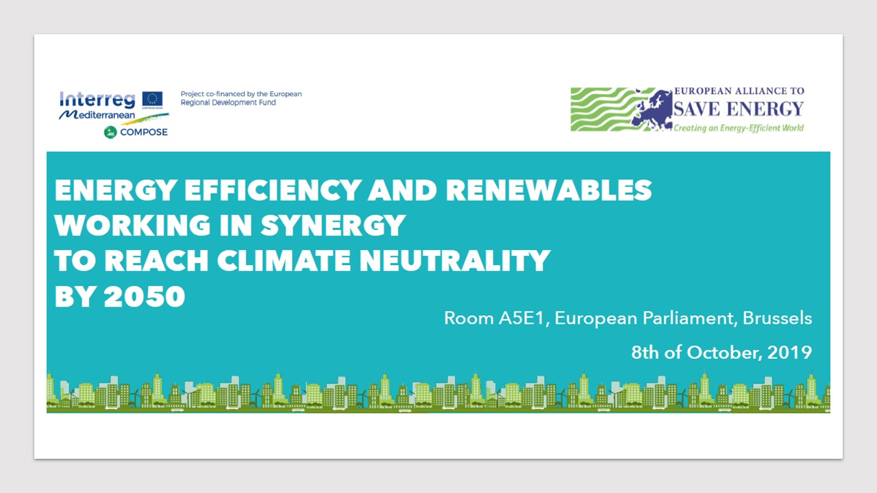 Energy Efficiency and renewables working in synergy to reach climate neutrality by 2050