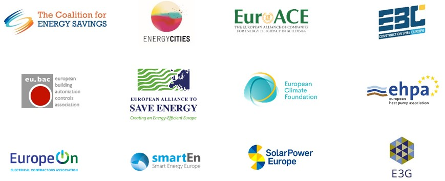 Energy efficiency and renewable energy stakeholders point out integrated buildings renovation plan as key  to deliver a successful European Green Deal