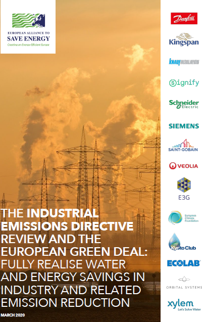 The Industrial Emissions Directive review and the European Green Deal: fully realise water and energy savings in industry and related emission reduction
