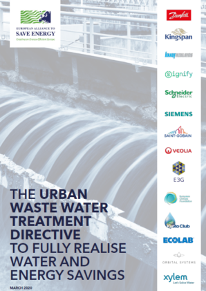 The Urban Waste Water Treatment Directive to fully realise water and energy savings