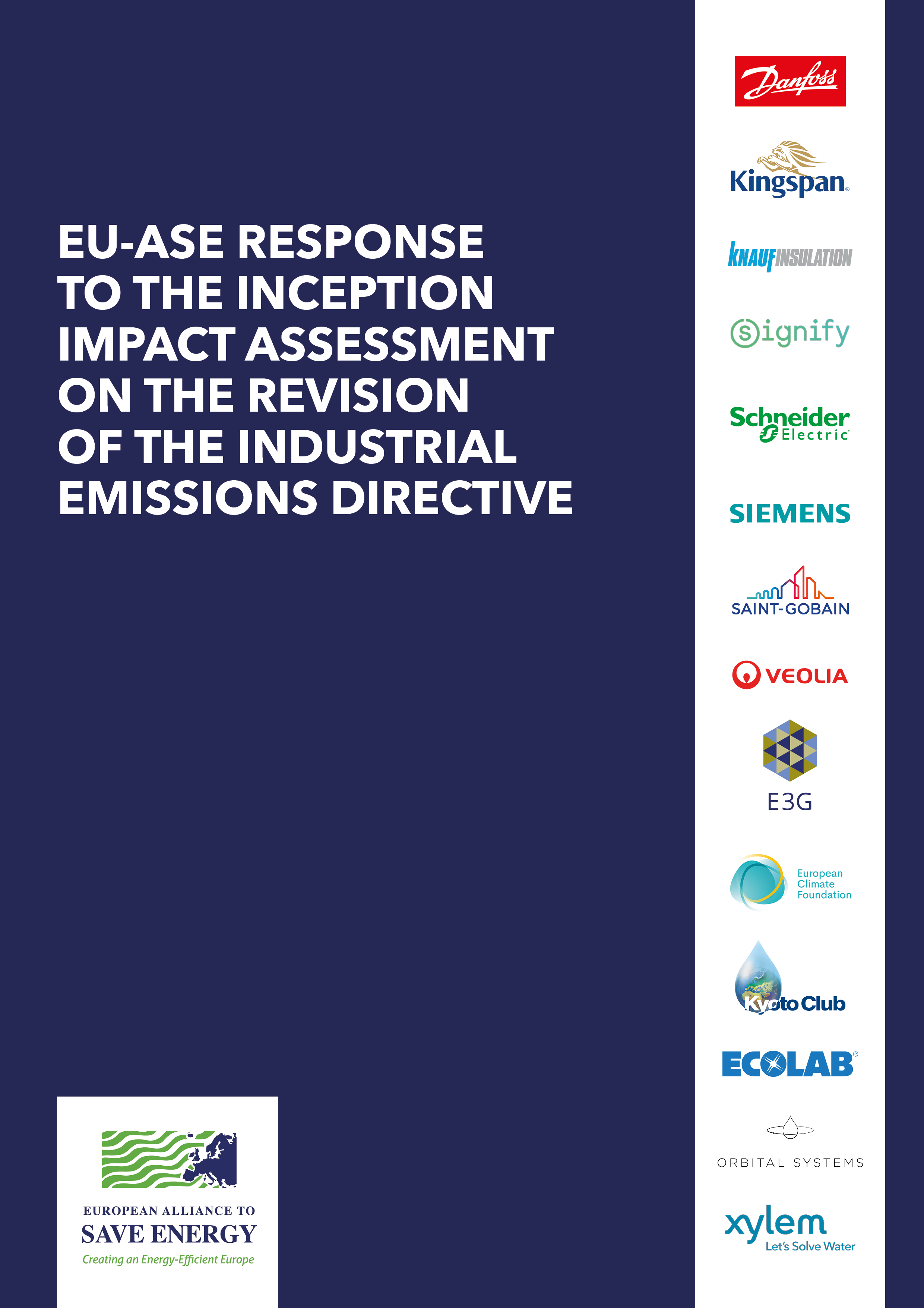 EU-ASE response to the Inception Impact Assessment on the Industrial Emissions Directive