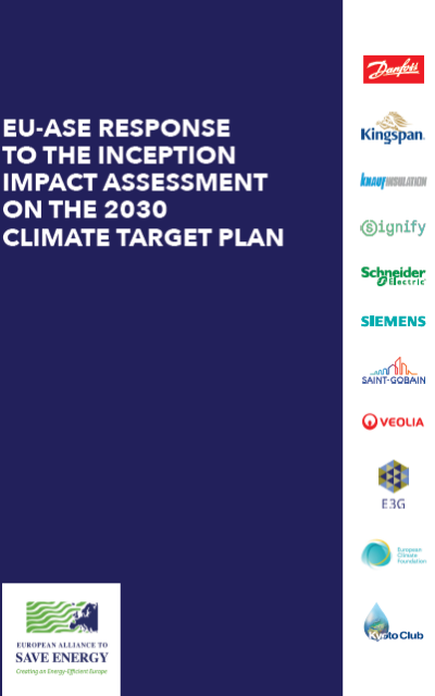 EU-ASE response to the Inception Impact Assessment on the 2030 Climate Target Plan