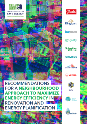 Recommendations for a neighbourhood approach to maximize energy efficiency in renovation and energy planification