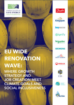 EU wide Renovation Wave: where growth strategy and job creation meet climate goals and social inclusiveness