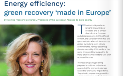 Energy efficiency: green recovery 'made in Europe'
