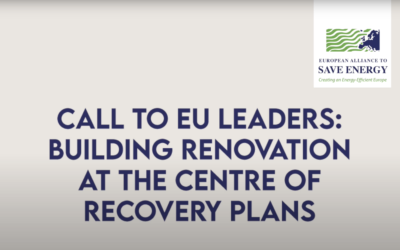 Our message to EU leaders: building renovations should be at the centre of the recovery plans