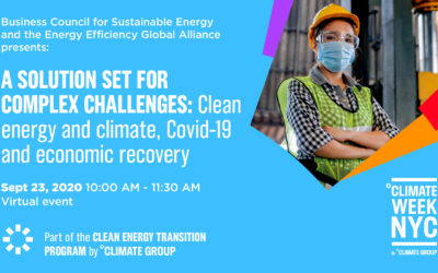 EU-ASE at Climate Week NYC 2020: A Solution Set for Complex Challenges