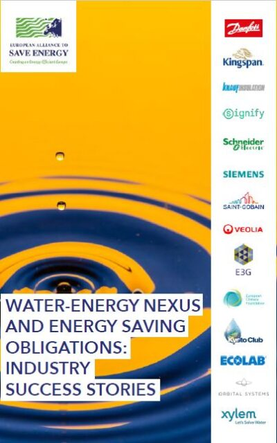 Water-energy nexus and energy saving obligations: industry success stories