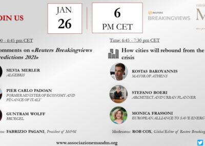 EU-ASE at M&M and Reuters Breakingviews Predictions 2021