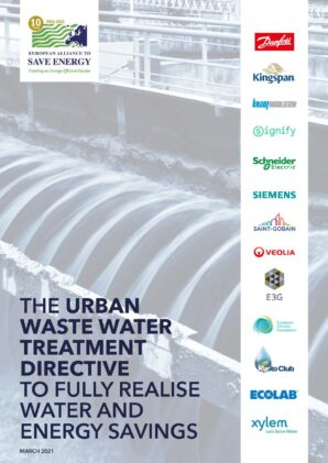The Urban Waste Water Treatment Directive to fully realise water and energy savings (updated)