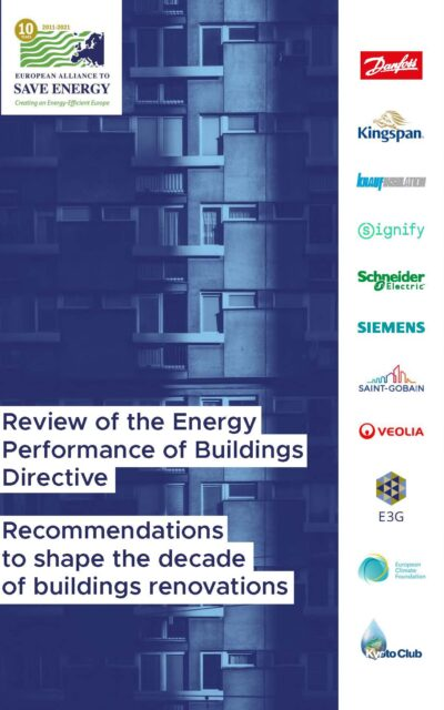 Recommendations to shape the decade of buildings renovations