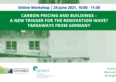 Carbon pricing and buildings: A new trigger for the Renovation Wave?