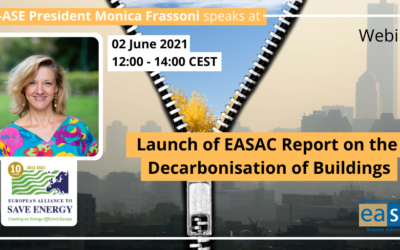 """Monica Frassoni's speech at launch of EASAC report """"Decarbonisation of buildings for climate, health and jobs"""""""
