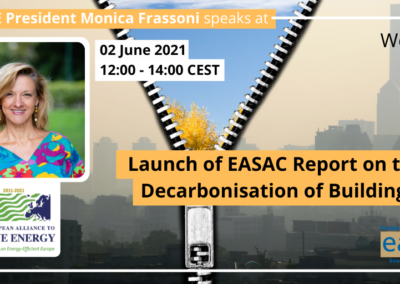 EU-ASE at launch of EASAC Report on the Decarbonisation of Buildings