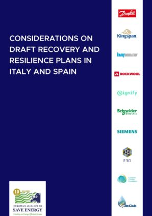 Considerations on the draft Recovery and Resilience Plans of Italy and Spain
