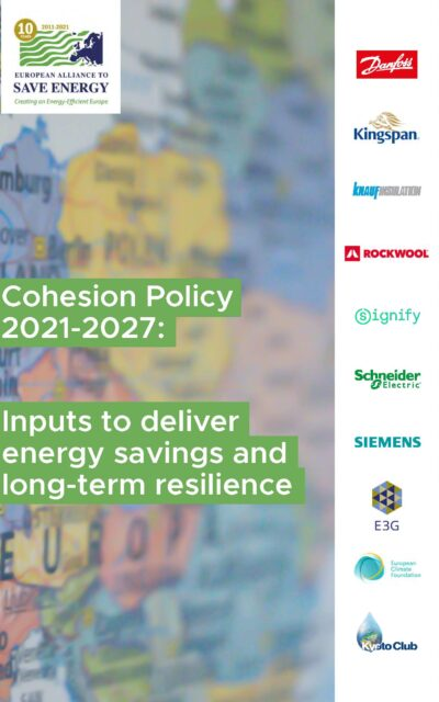 Cohesion Policy: Inputs to deliver energy savings and long-term resilience