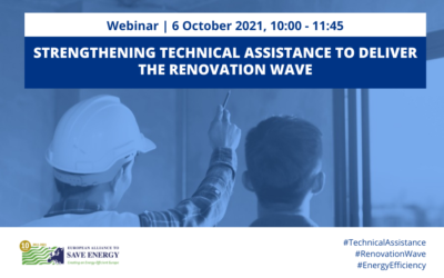 Strengthening technical assistance to deliver the Renovation Wave